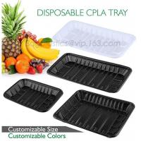 Quality PLA plate best selling prodcts, biodegradable PLA dinner plate for restaurant use, pla food box for meat for sale