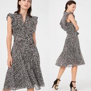 Buy cheap Summer Ruffle Polka Dot Midi Dress Women Casual Dresses Ladies from wholesalers