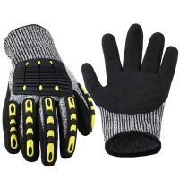 Quality Deckhand Cut Proof Work Gloves TPR Impact Resistant Oil Gas Safety Gloves for sale