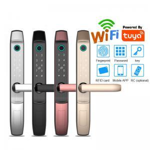 Quality Digital Door Lock Zinc Alloy S875 Smart Fingerprint Glass Door Lock With Tuya APP for sale