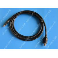 China Gold Plated High Speed HDMI Cable , Black Heavy Duty Round HDMI 1.4 Cable on sale