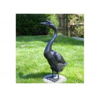 Quality Outdoor Modern Life Size Bronze Statue Casting Finish Animal Goose Sculpture for sale