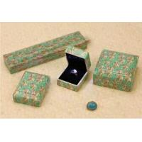 Quality Lovely Jewellery Packaging boxes Plastic Paper Covered Square Shape for sale