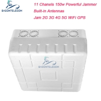 Quality 11 Channels Built-in Antenna 2G 3G 4G 5G Signal Jammer Blocker WiFi GPS 50m Range for sale