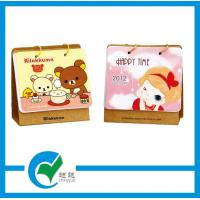 Quality Mini Table Custom Calendars Printing with Art Paper Laminated Grey Board Tray Dia for sale