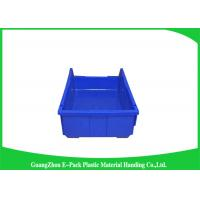 China Shelf Wall Mounted Industrial Plastic Storage Boxes , Heavy Duty Plastic Stackable Bins on sale