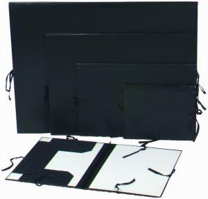 Quality Black Artist Painting Portfolio Folder Paper Organizer Folder With Painting Clip for sale