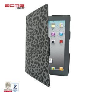 China Slim fit Leopard black exquisite PU leather portfolio flip case cover for Apple ipad 2 3 4 on sale