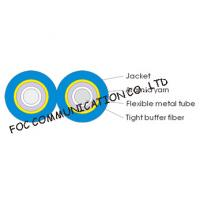 Quality Armored Optical Fiber Cable Zipcord Duplex With Flexible Metal Tube for sale