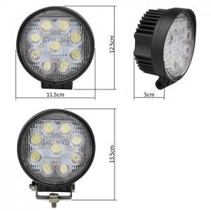 Quality 27W Round Spot LED Work Light Driving Fog Light IP67 thicker profile 11.5*11.5*5cm 10-30V 9LEDS for sale
