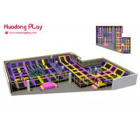 Astm Trampoline Park Equipment Indoor Customized Pvc Material High Safety
