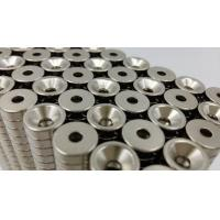 China Disc magnets with counter sunk hole Used in Door Catch certificated with ISO /TS 16949  ,packing in cartons on sale