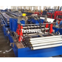 Quality Supermaket Racking Shelf Panel Roll Forming Machine With Hydraulic Cutting Bending for sale