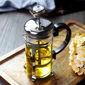 China New Style 1000ml Borosilicate Glass Coffee Tea Maker French Press on sale