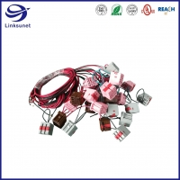 Quality Custom automotive wiring harness with Brown 2.54mm 5 rows Connector for sale