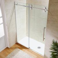 Quality Wholesale Custom Stainless Steel Sliding Glass Free Standing Shower Enclosure for sale