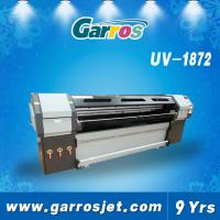 Quality Garros R1852 1800mm roll to roll flatbed UV digital printer with dual dx5 heads / 1440dpi for sale