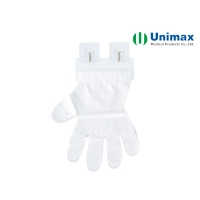 Quality Anti Slip PE Disposable Clear Plastic Gloves With Eyelet for sale
