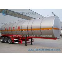 Quality SUS304 2B Chemical Oil Tank Trailer 3 Axle 39000 L Milk Tanker Trailer for sale