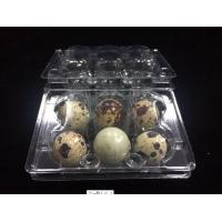 China hot sells egg trays clear quail egg trays with 6 holes 2*3 holes PVC / PET / APET... quail egg container on sale