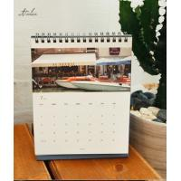 Quality Glossy Paper Landscape Custom Calendar Printing for Office for sale