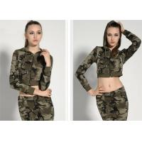 Quality Fashionable Womens Military Dress Threaded Cuffs And Hem With Non - Detachable Hat for sale