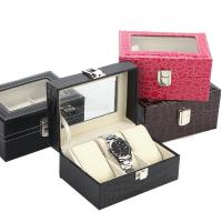 Quality Small Watch Box 3 Croco Faux for sale