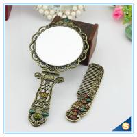 Quality Circular Castle Design Foldable Handle Mirrors of Dressing Table Vintage Handle Mirrors for sale
