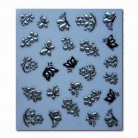 Quality Butterfly Design 3-D Nail Stickers, Harmless and Nontoxic for sale