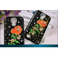 Quality DIY Bling Samsung Galaxy Protective Cases Galaxy S4  Flower Pattern for sale