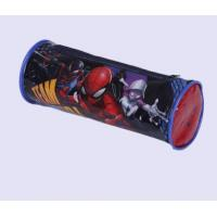 Quality Cute Round PVC Pencil Case , Customized Full Color Printed Clear Plastic Pencil Bag for sale