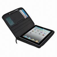China Portfolio Real or PU Leather Zipper Case for Motorola Xoom Tablet PC,10.1 Inches on sale