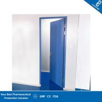 Quality Thermal Insulation Pharmaceutical Clean Room Door With Visual Window And Lock for sale