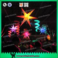 Quality Event Ceiling Inflatable Stage Decoration LED Star Light With 210T Polyester Cloth for sale