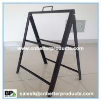 China Steel A frame for Supermarket metal sign stand on sale