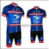 China Custom Made Dye Sublimation Blue Cycling Jersey on sale