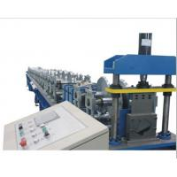 China PLC Control Gutter Forming Machine Hydraulic Cutting For Rainwater Round Gutter on sale