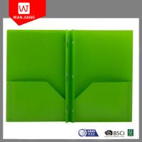 Buy cheap Office supplies colorful document file PP plastic 3 prong file folder with two from wholesalers