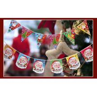 Quality printing decorative christmas bunting flags for sale