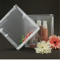 China Lightweight Transparent Travel Toiletry Bag Bespoke 100% Handmade Sewing on sale