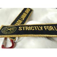 Quality 3D gold emboridery logo Keychains Lanyard Designs Carabiner Short Lanyards for sale