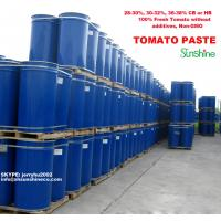 China high quality tomato paste in drum steel  with 100% fresh tomato and non-GMO 28-30% Brix Cold break or hot break on sale