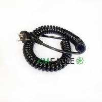 Quality 10 Amp Retractable Coil Cable , 12V EU Plug Braided Flexible Cable for sale