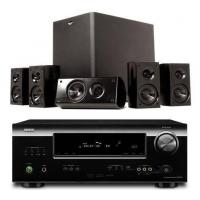 Quality Denon AVR-1312 and Klipsch HDT-300 Home Theater Bundle Package for sale