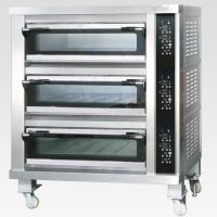 Quality 3 Decks 12 Trays Electric Baking Oven With Automatic Temperature Control for sale