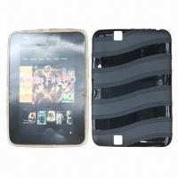 Quality Tablet PC Cases for Kindle Fire HD, Made of TPU, with Wave Texture, Many Colors Available for sale