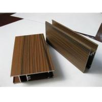 Wooden Grain Color Aluminum Door Profile for Slid Hung Door with Punching GB/T 5237