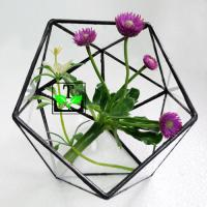 Quality glass terrarium flower glass case for wedding decoration for sale