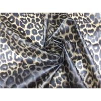 Quality Leopard Design Printed Tpu Leather Brown Color 0.20mm For Ladies Coat for sale