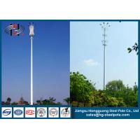 Quality Polygonal Self-supporting Steel Tubular Pole , Telecommunication Pole for sale